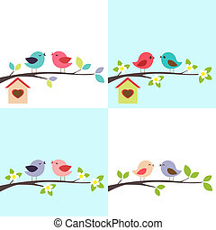 paar, van, vogels