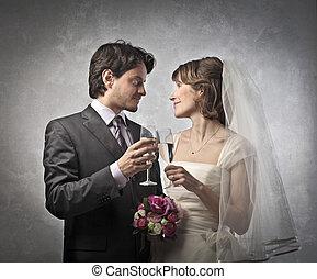 paar, verheiratet