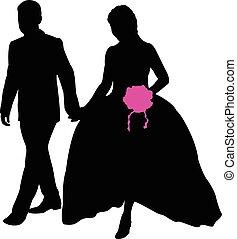 paar, verheiratet, gerecht