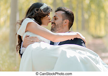 paar, verheiratet, pappel, hintergrund, gerecht