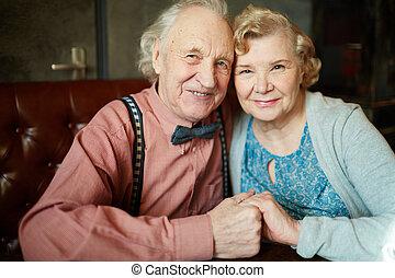 paar, vrolijke