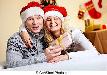 paar, weihnachten
