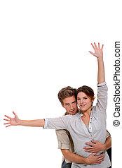 paar, witte achtergrond