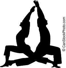 paar, yoga