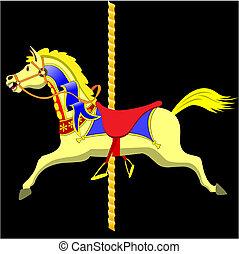 paarde, draaimolen