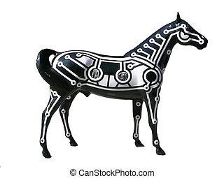 paarde, gebeeldhouwd kunstwerk