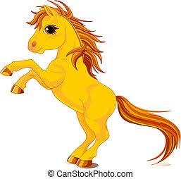paarde, gele
