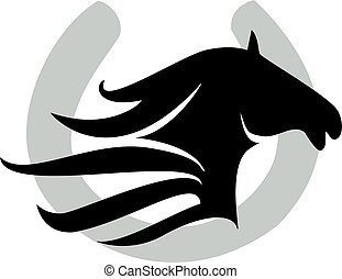 paarde, ontwerp, schoen, &