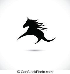paarde, vector, illustratie, symbool