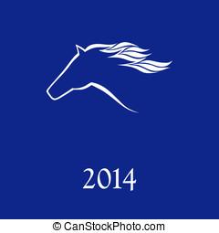 paarde, vector, symbool