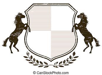 paarden, jas, armen