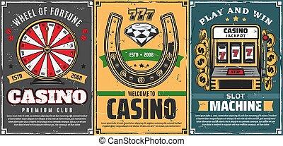 paardenhoef, casino, 777, pook, gelukkig, gleuf machine