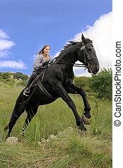 paardrijden, meisje