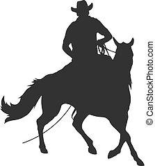 paardrijden, paarde, lasso, cowboy