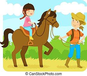 paardrijden, paarde, les