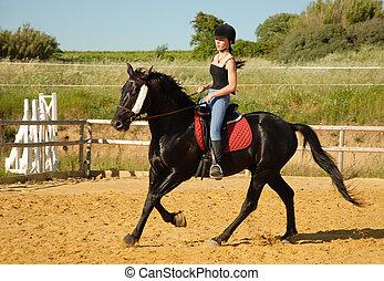 paardrijden, tiener