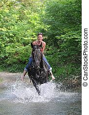 paardrijden, vrouw