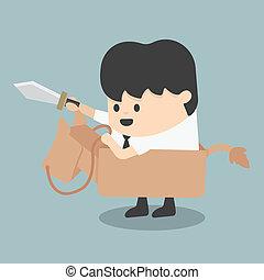paardrijden, zwaarden, zakenman, paarde, speelbal, vecht