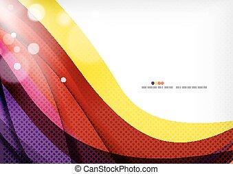 paarse , abstract, gele, lijnen, achtergrondkleur
