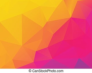 paarse , abstract, gele, polygonal, vector, achtergrond