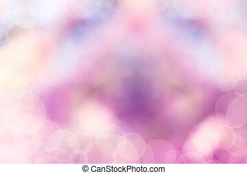 paarse , blauwe , en, roze, pastel, kleurrijke, achtergrond, bokeh, vaag, en, morgen, lichten