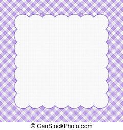 paarse , checkered, viering, frame, voor, jouw, boodschap, of, uitnodiging, met, copy-space, ertussen