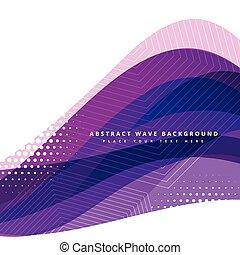 paarse , golvend, vector, ontwerp, achtergrond
