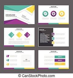 paarse , groene, presentatie, gele
