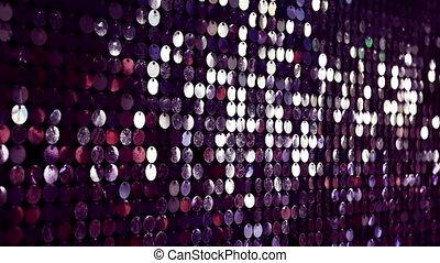 paarse , lichten, abstract, achtergrond., sparkles., glanzend