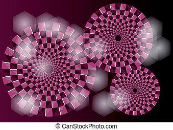 paarse , optische illusie