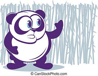 paarse , panda