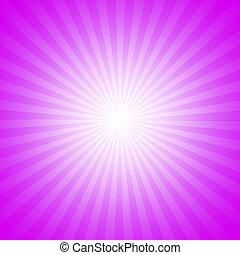 paarse , starburst, effect, achtergrond