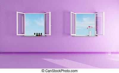 paarse , woonkamer, lege