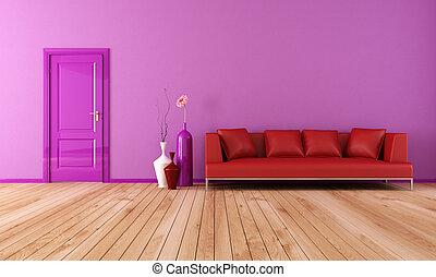 paarse , woonkamer, rood