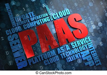 PAAS.  Wordcloud Concept.