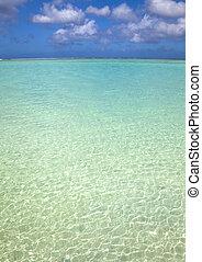 pacífico, limpio, isla, océano azul, agua