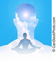 pacífico, mente, y, cuerpo
