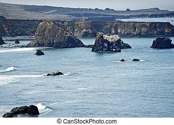 pacífico, orilla, california