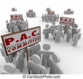 pac, 政治, 行動, committe, 特別, 興趣, 組, 對議員進行拉攏疏通活動的人, p