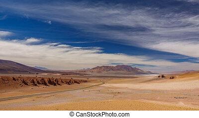 Pacana monks plain and salar timelapse in Atacama - Pacana...