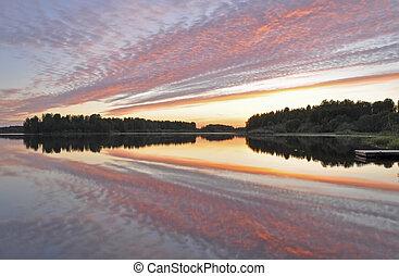 pacata, reflexão lago