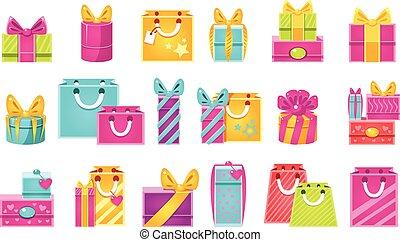 pacchetti, set, regalo