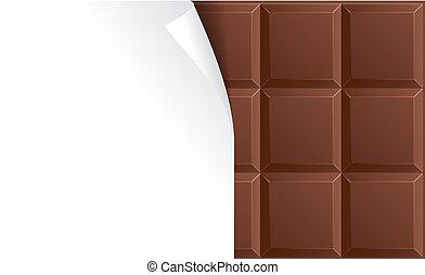 pacchetto, cioccolata latte, vettore, vuoto, advertizing.