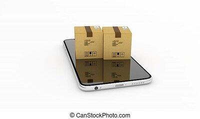 pacchetto, consegna, inseguimento, internet, purchase., 49.