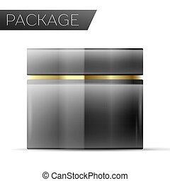 pacchetto, crema cosmetic