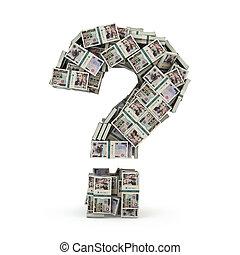pacchi, soldi, concept., yen, domanda, isolato, segno, white., investire, dove