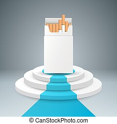 pacco, sigaretta, scala, ladder.