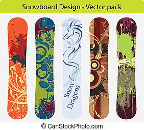 pacco, snowboard, disegno, 16