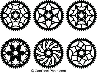 pacco, vettore, chainrings