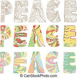 pace, lettere, colorito